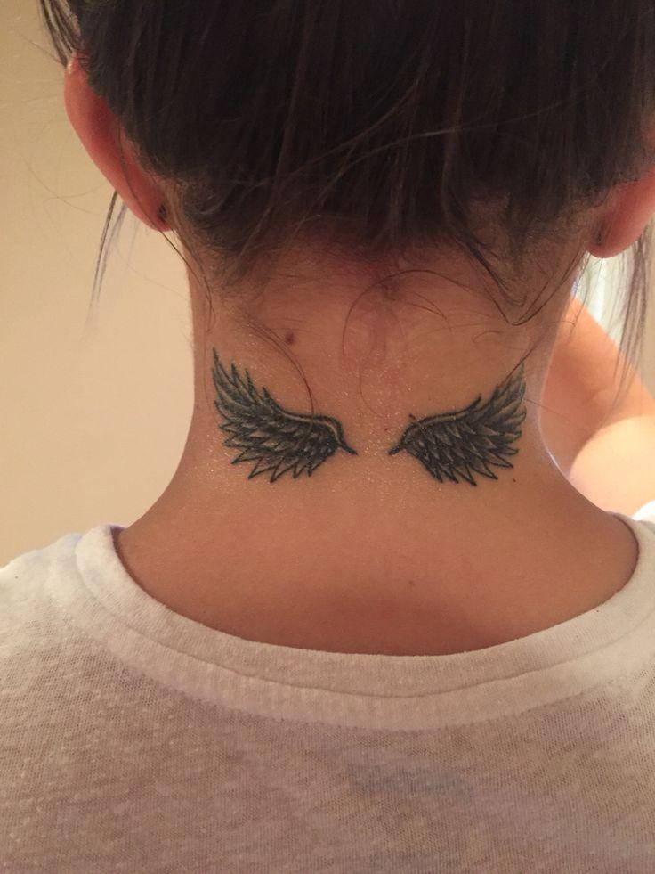 #angel #wings #tattoo #neck