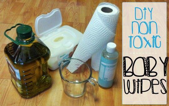 DIY non toxic baby wipes