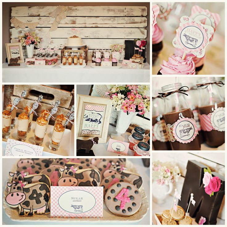 Vintage Farm Fresh Girls Birthday Party. Printables & styling by Three Little Monkeys Studio.