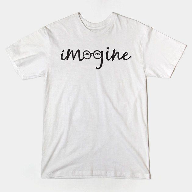 Imagine - John Lennon Glasses and Eyes Tribute Tshirt