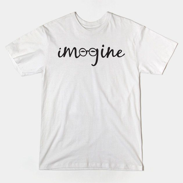 Imagine - John Lennon Glasses and Eyes Tribute TShirt