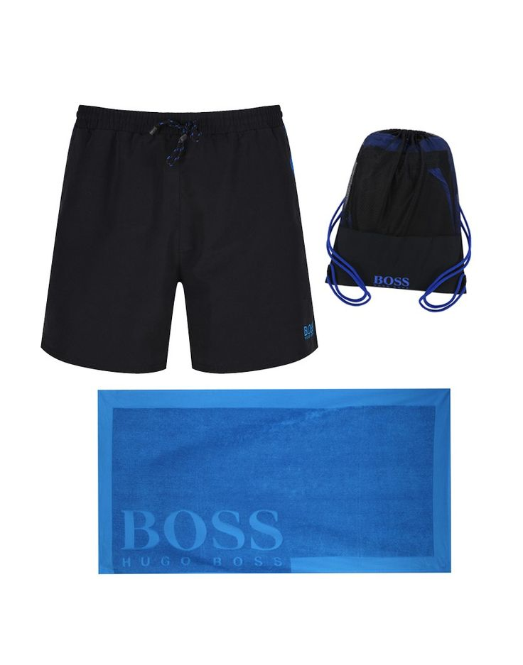 Make a splash this season with the Boss Orange Men's Swim Shorts, Beach Towel & Drawstring Bag Set. Your holiday surival kit is right here.