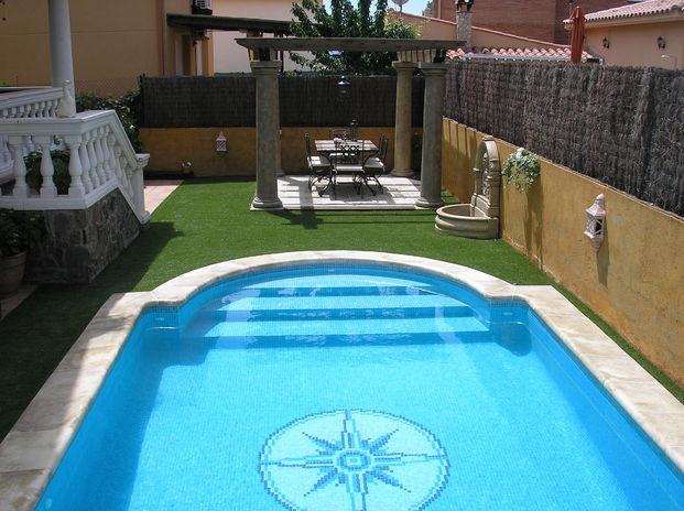Piscina 6x3 escalera romana piscinas pinterest for Escalera piscina
