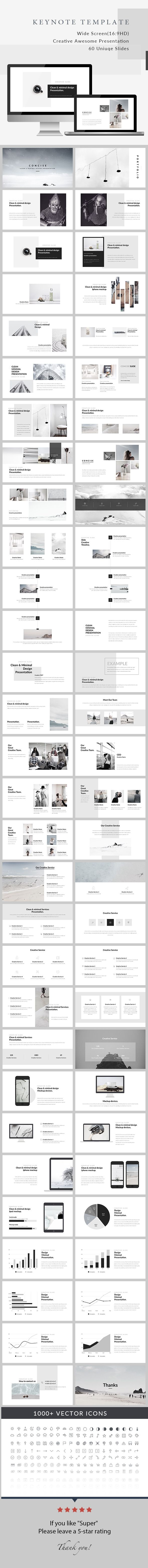 Concise - Minimal Keynote Presentation - Creative Keynote Templates