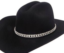 974ca5ede6436 3 Row Large Crystal Rhinestone Cowboy Hat Band