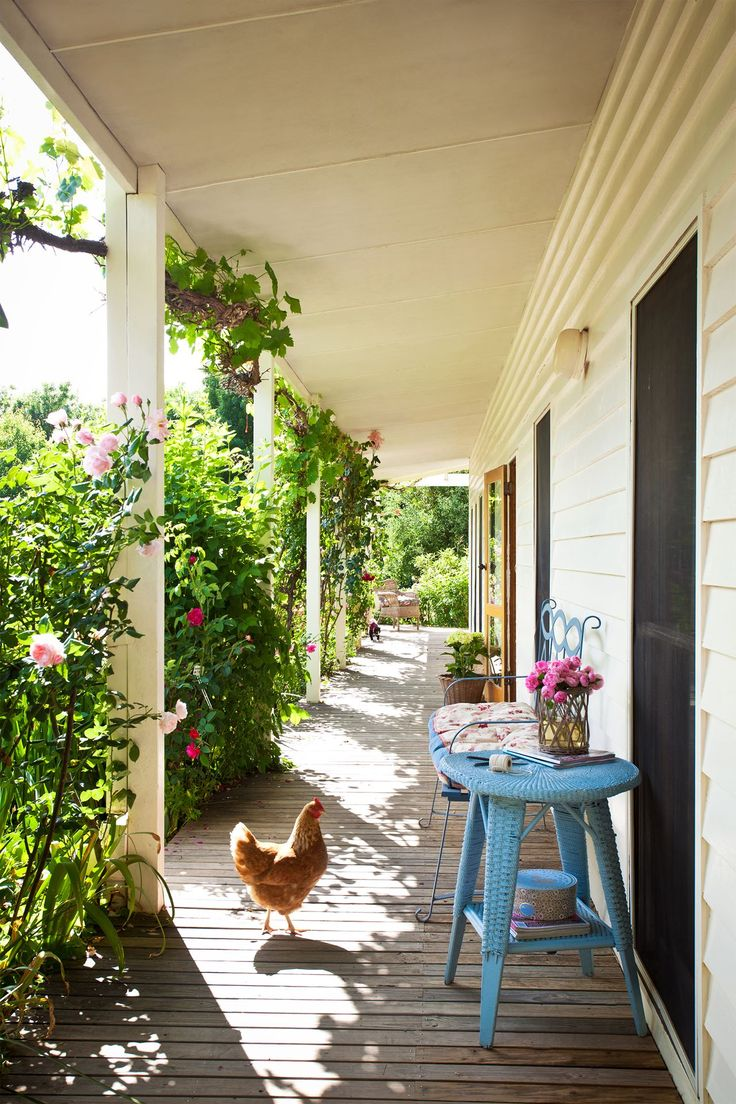 The sun-drenched, north-facing verandah is a perfect place to sit and soak up…