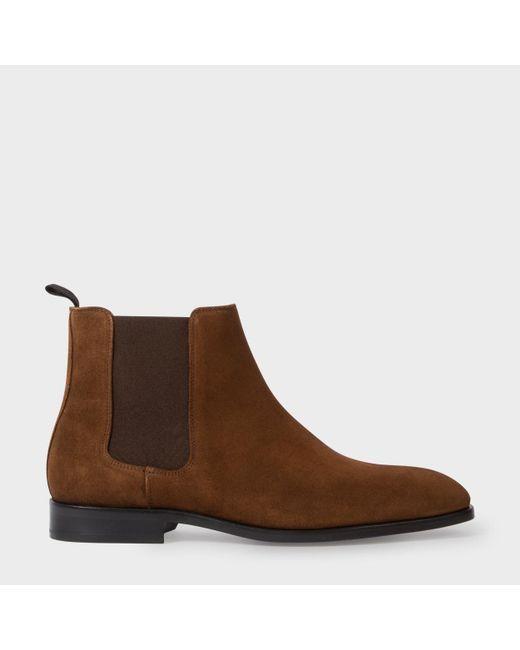 Paul Smith | Men's Brown Suede 'gerald' Chelsea Boots for Men | Lyst