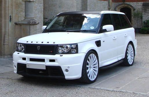 White Revere Range Rover Sport