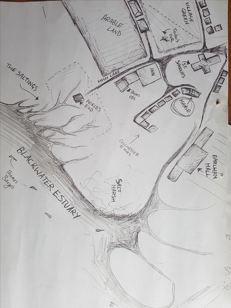 Sarah Perry The Essex Serpent Aldwinter map (drawn by Perry)