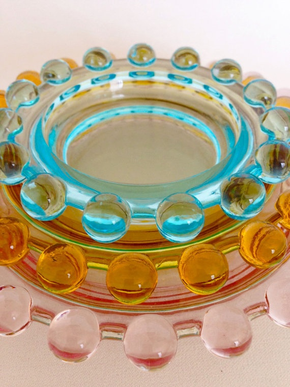 Imperial Glass Trays - Candlewick   via Etsy.