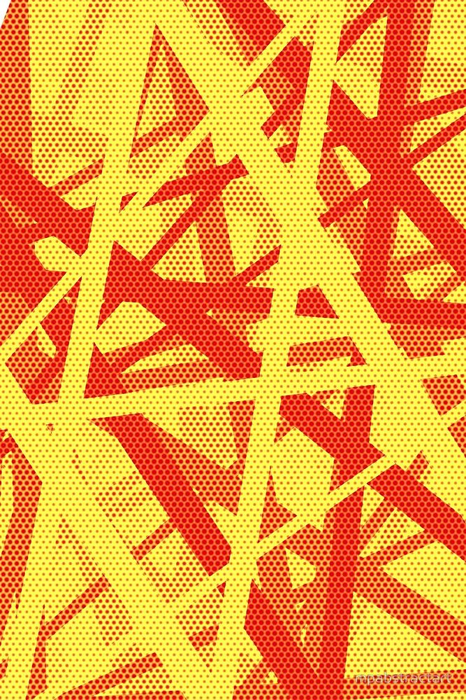 """""""Pop Life"""", Abstract artwork by Paucian Marius (mpabstractart); Buy quality art prints starting from $20.65, Canvas prints starting from $78.81 and other 40 products. #art #pop #abstract #lines #painting #red #yellow #prints #canvas #sale"""