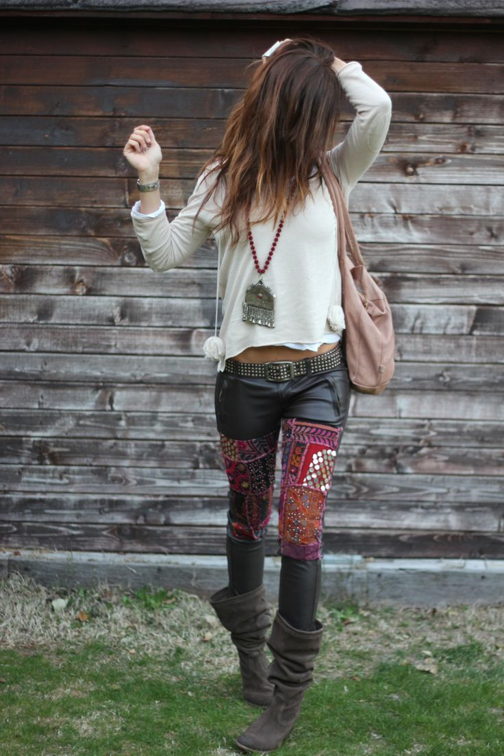 Embellished leather pants - hell yes!