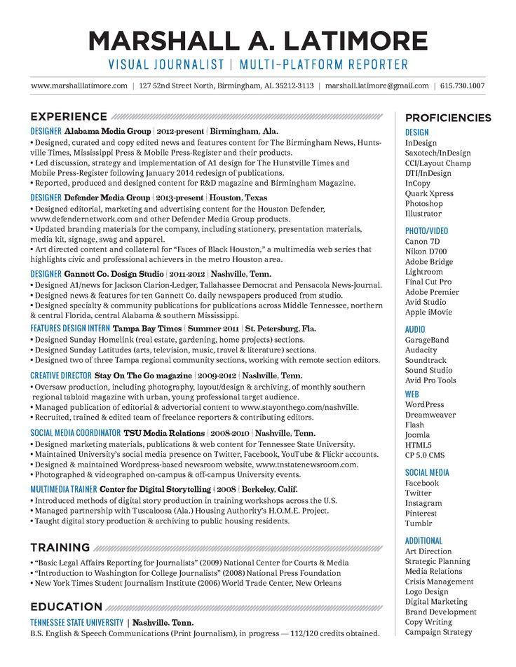216 best VizJo images on Pinterest Lighting techniques - digital journalist resume