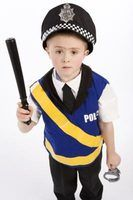 Role-play activities help kids learn about police officers' duties.