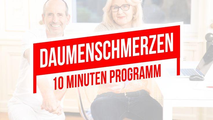 Daumenschmerzen   10-Minuten-Programm für den Daumen   Rhizarthrose, Dau...