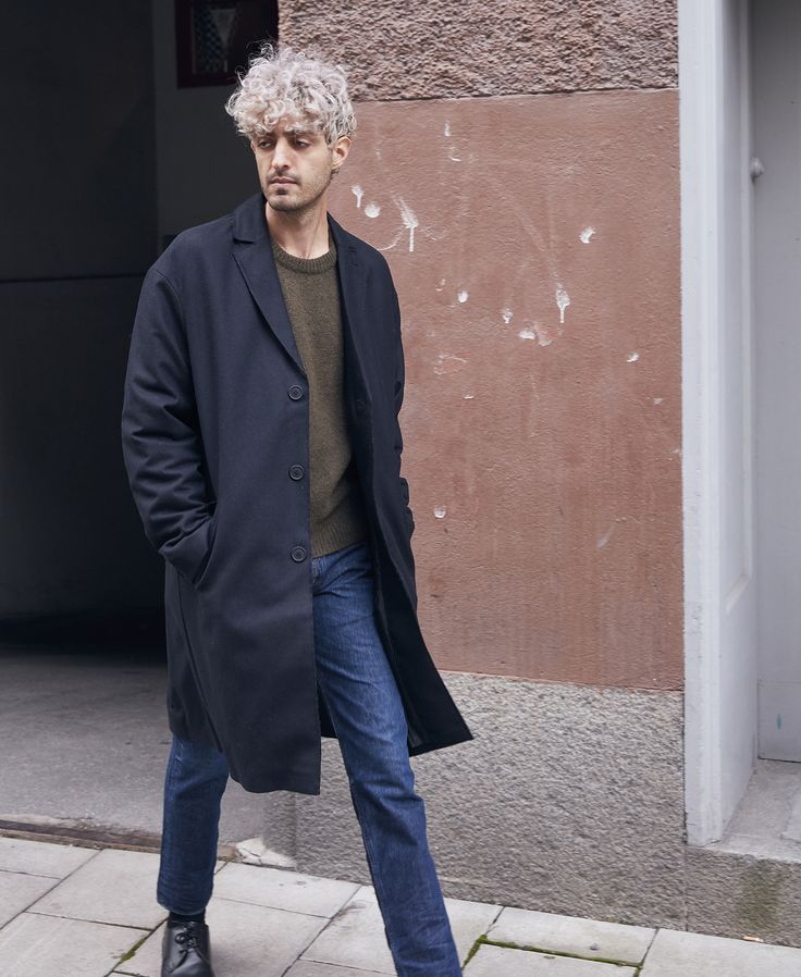 Autumn lookbook: Coat by Brixtol, knit sweater by Our Legacy and denims by KOI - Kings of Indigo.