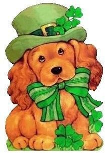 ST. PATRICK'S DAY PUPPY CLIP ART