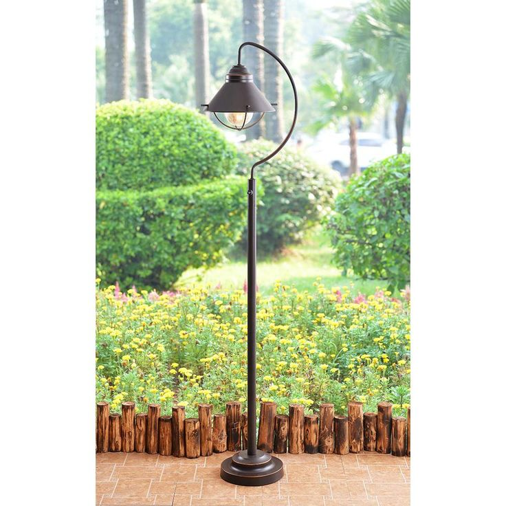 Kenroy Home Harbour 60 in. Oil Rubbed Bronze Floor Lamp with Metal Shade