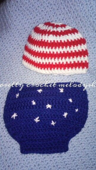 4Th july baby outfit crochet