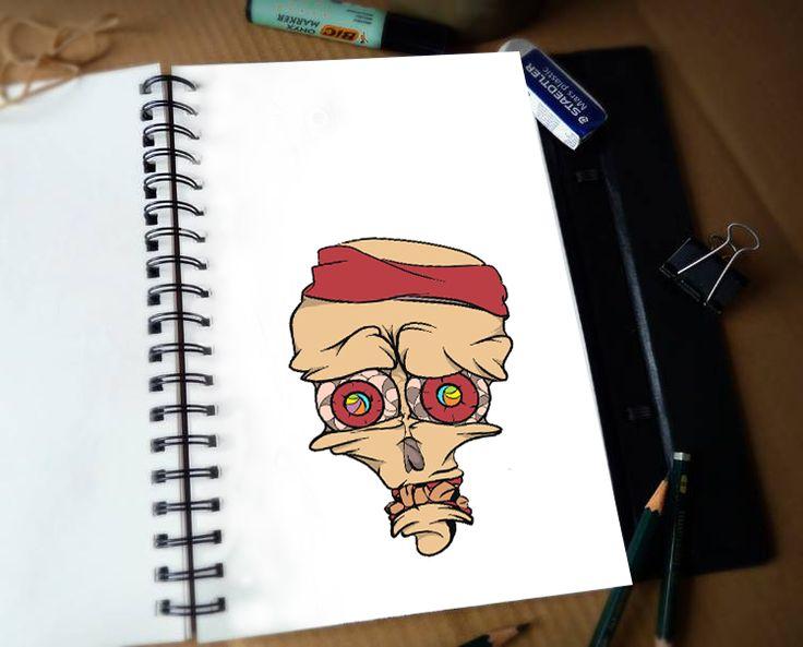 skull, Digital, 2D, Animation, Comic, Art, animation, Skeatch, Skeatchbook, animal, art, grafity