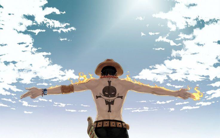 Anime One Piece  Portgas D. Ace Nube Fuego Anime Fondo de Pantalla