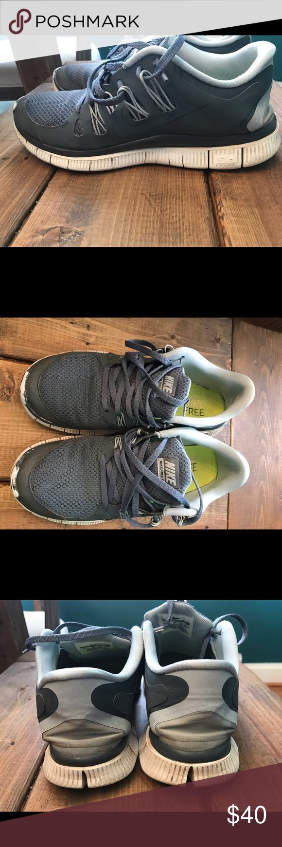 Nike Free 5.0 runners Pretty grayish color. Stylish! Worn but good shape. None of my shoes fit after pregnancy. My loss, your gain! Nike Shoes Sneakers