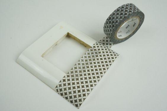 Relooker un interrupteur avec du masking tape