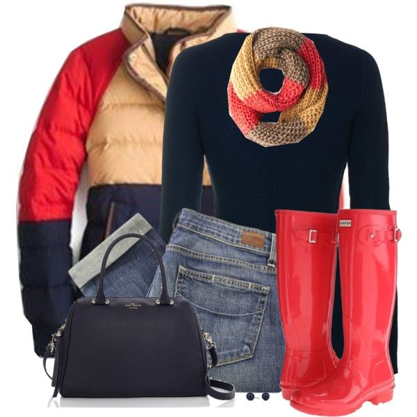Hunter Boots by daiscat on Polyvore featuring iHeart, Paige Denim, Hunter, Kate Spade and Betty Jackson