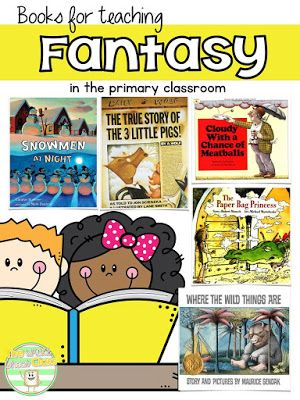 Books for Teaching Fantasy** Genre Study for Primary Students-Book recommendations, hands-on activities, Journaling notebook, assessment and a FREEBIE!