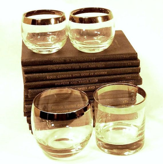 Dorothy Thorpe Low Ball Cocktail Glasses by Vintiquesandmore ~Eclectic and stunning!