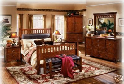 mexican style bedroom | Wooden, handmade bedroom set Gorgeous mexican style