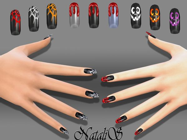 Best 25 nail art video download ideas on pinterest nail art halloween nails art by natalis at tsr via sims 4 updates sciox Image collections