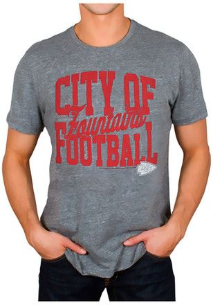 Junk Food Clothing Kansas City Chiefs Mens Grey Touchdown Fashion Tee