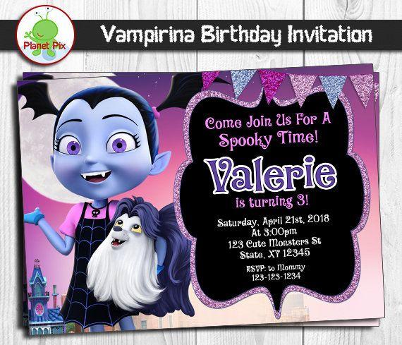 Disney Vampirina Birthday Invitation Template FREE