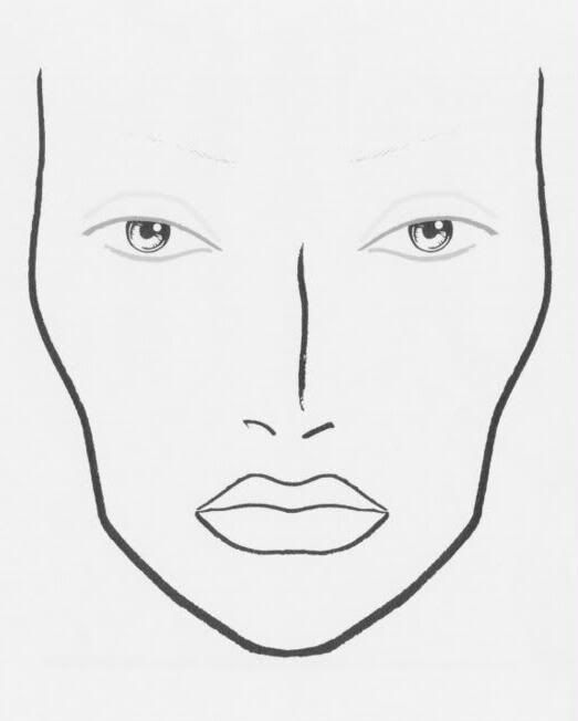 blank makeup face chart | BLANK FACE CHARTS | Pinterest