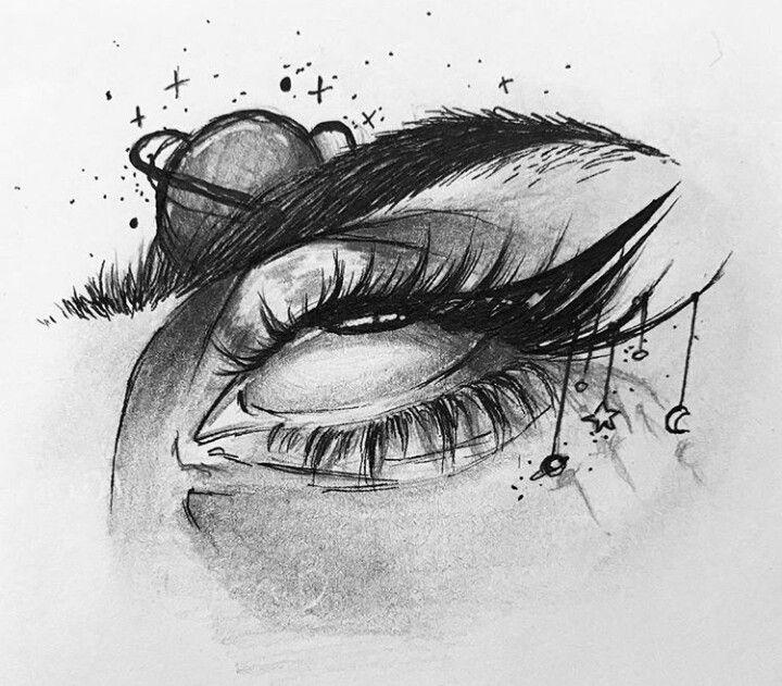 сути, рисунки закрытые глаза со слезами внутри