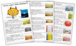 Ateliers graphiques PS - Consignes à coller