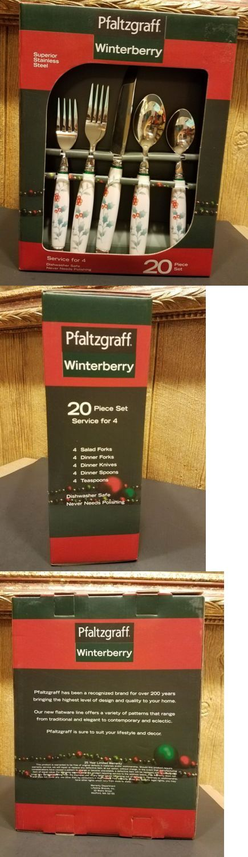 Flatware and Silverware 20693: Pfaltzgraff Winterberry 20 Piece Stainless Steel Flatware Set -> BUY IT NOW ONLY: $36 on eBay!