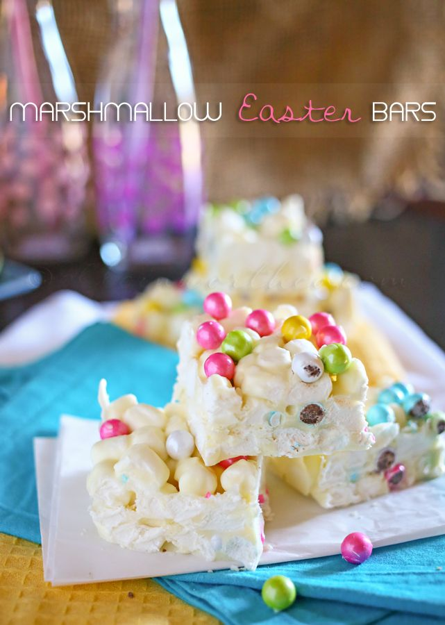 Marshmallow Easter Bars from www.kleinworthco.com #recipes