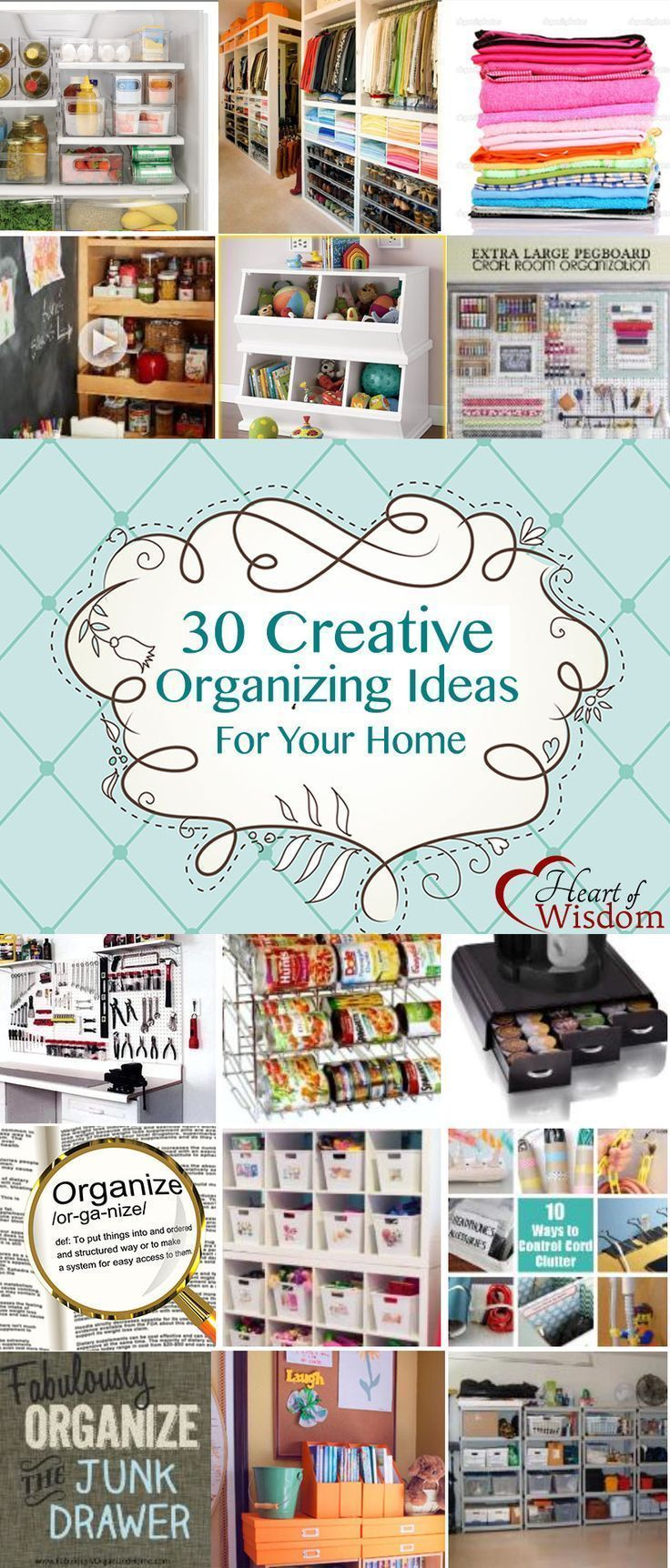 30 Creative #Organizing Ideas for Your Home