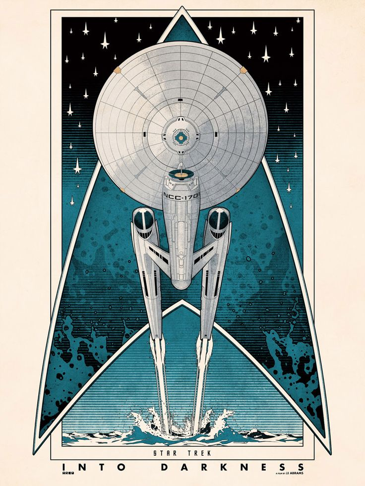 Beautiful! I love all these posters done in the style of old sci fi illustrations. The movie name being on it kind of ruins it for me, but the images are beautiful.
