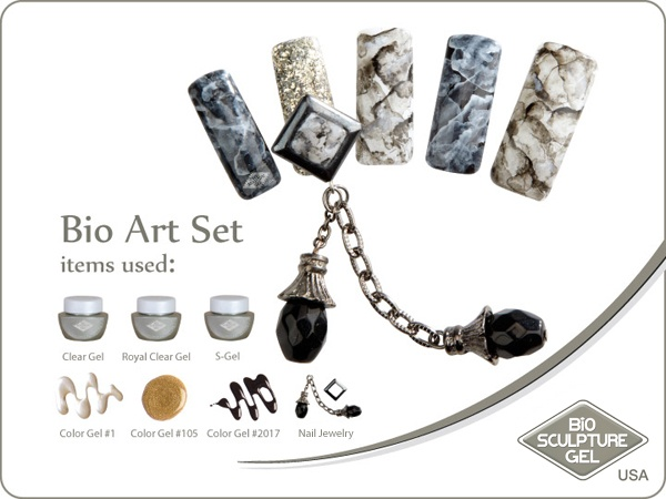 Jeweled marble art set
