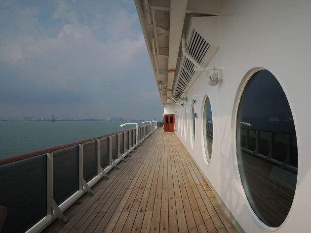 Morning cruise in the Strait of Malacca.