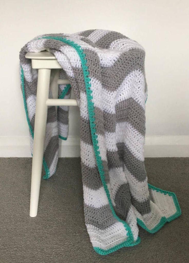 Chevron Blanket/Baby/Crochet/bedding/throw/Baby shower/afghan/Grey/White/Green/Cot/Cotbed/pram/monochrome/car seat/stroller/buggy/zigzag by StrawberryAndTink on Etsy https://www.etsy.com/uk/listing/522251143/chevron crochet #handmade #chevron #chevronblanket #zigzag #babyblanket #cotbed #Afghan #stroller #buggy #pram #throw #pink #white #comforter #babygirl #babyshower #green #grey #yellow #pink #blue #carseat #cot #Mosesbasket #crib