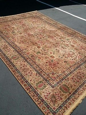Karastan Persian Tabriz Oriental Samovar Tea Wash 9 X 12 Wool Rug Design 900 909