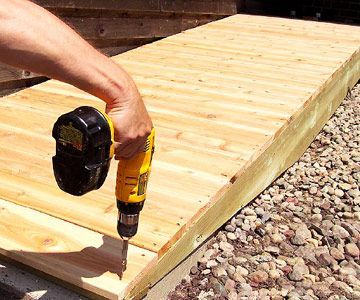 Building a Deck Access Ramp - Custom Touches - How to Design & Build a Deck. DIY Advice