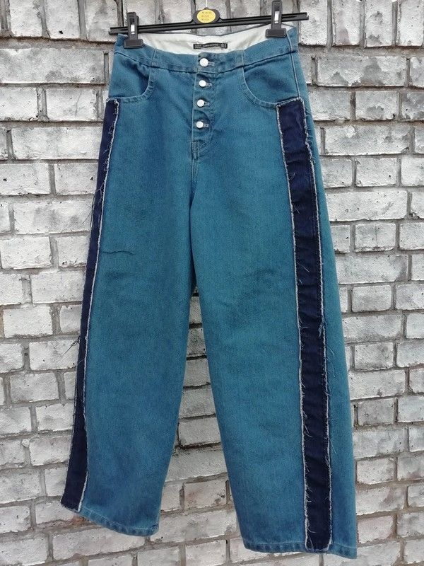 49974e49 Zara Trafaluc Denimwear Dark Blue Wide Leg Jeans Size UK 10 in 2019 ...
