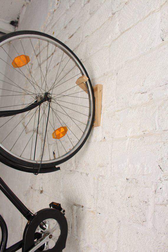 Tokyo Bike Rack Wall Mount Wooden Wall Hook Bike Storage Etsy Bike Rack Wall Wooden Wall Hooks Bike Storage