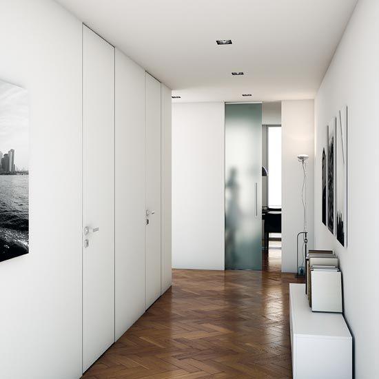 Drzwi ukryte do malowania - EKODAR włoskie drzwi ukryte, zlicowane, wysokie
