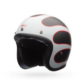 CAPACETE CUSTOM 500 CARBON ACE CAFE TONUP BLACK_WHITE - LCS Trading, LLC